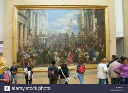 the wedding at cana les noces de cana by paolo veronese inside The Wedding At Cana Painting By Paolo Veronese stock photo the wedding at cana les noces de cana by paolo veronese inside the louvre, paris Paolo Veronese Inquisition