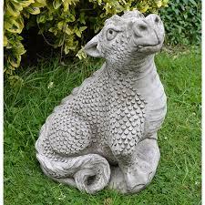 dragon garden statues. Image Of Head Up Dragon Garden Ornament - DN12 Statues E