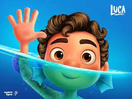 Pixar's Luca Illustration made in Figma