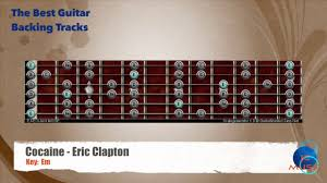 Cocaine Eric Clapton Guitar Backing Track With Scale Map Chart