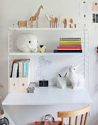 contemporary desk wall mounted with shelf