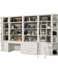 white office bookcase. Parker House, Catalina 9-Piece Home Office Bookcase Library Wall, Cottage  White White Office Bookcase