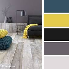 Bleu Jaune Noir Gris More. Grey Living Room Ideas Colour ...