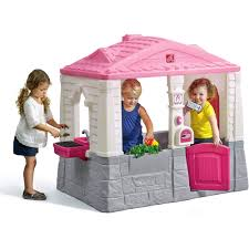Pink Step 2 Kitchen Step2 Neat And Tidy Cottage Playhouse Pink Walmartcom