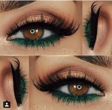 golden and green eyeshadow