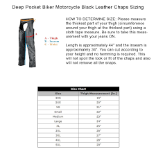 Deep Pocket Motorcycle Leather Chaps