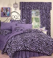 lavender zebra print bedding set