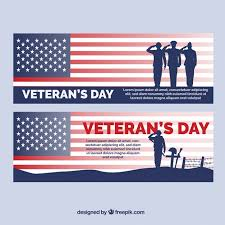 banners with solrs from the united states for veterans day free vector
