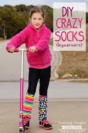 easy tutorial on how to make your own crazy socks leg warmers going