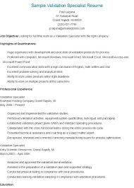 Passport Specialist Sample Resume Magnificent Sample Validation Specialist Resume Resame Pinterest