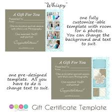 Photography Gift Certificate Template Photography Gift Certificates Certificate Template Resume Beautiful