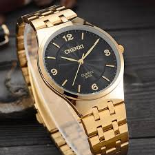 thin wrists promotion shop for promotional thin wrists on original chenxi gold watch men 2017 top brand luxury famous golden clock male quartz watch wrist quartz watch relogio masculino