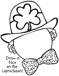 Small Picture Draw a Leprechaun Face Coloring Pages Free Printable Coloring
