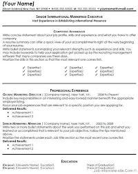 Marketing Resume Templates Word