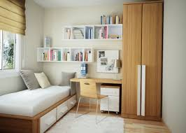 Impressive Elegant Modern Dorm Room Design With Wooden Cabinet Applied On  The Floor It Also Has ...