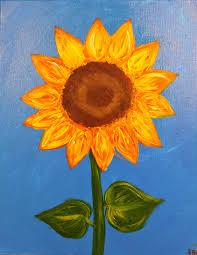 sunflower paintings kids art lessons