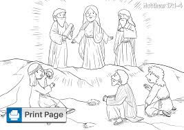 Jesus' high priestly prayer discusses themes of glory, unity, sanctification through the word of truth. Jesus Transfiguration Coloring Pages Free Printable Pdfs Connectus