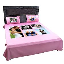 personalized photo collage double bedsheet with pillow ers