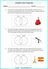 Venn Diagram Math Worksheets Printable Venn Diagram Worksheets For Grade 6 Or 7 Math