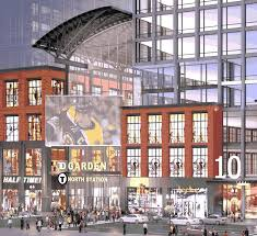 an artist s rendering of the new project filing at the td garden
