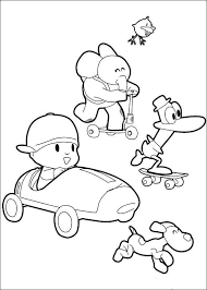 Free Printable Pocoyo Coloring Pages For Kids Pocoyo Pinterest