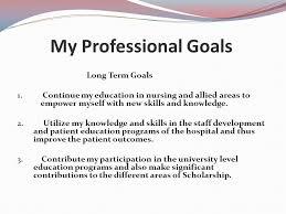 What Are Professional Goals Nursing Career Goals Essay