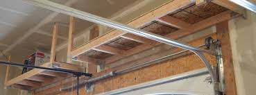 diy how to build suspended garage storage shelves