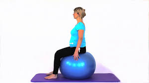 pregnancy exercises sitting on a gym ball