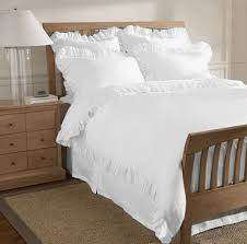 com 800 thread count 1 piece edge ruffle duvet cover king 100 egyptian cotton white home kitchen