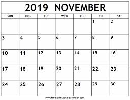November 2019 Calendar Free Printable Calendar Com