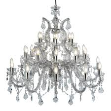 lighting home chandeliers marie therese chrome 30 light chandelier with crystal drops