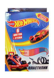 """88618 <b>Пластилин</b> 6 цветов """"<b>Hot</b> Wheels"""", картинка """"<b>Hot</b> Wheels ..."""