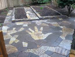 how to lay flagstone patio how to lay flagstone patio on dirt install stone patio over