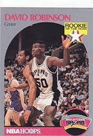 Prior to 1989, the market for nba trading cards was limited to a single set produced by in the early 1990's sports card collecting got hot. 1990 91 Nba Hoops David Robinson Rookie Card At Amazon S Sports Collectibles Store