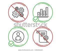 Do Stop Avatar Graph Chart Cogwheel Stock Vector Royalty