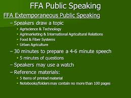 speaking in public agricultural communication and leadership 17 ffa