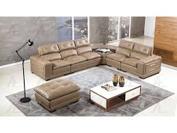 taupe leather speakers sectional