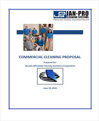 Cleaning Proposal Template 7 Cleaning Service Proposal Templates Free Word Pdf Format