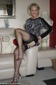 Stockings and heels mature