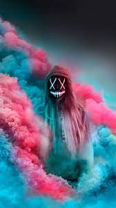 Neon Masks Aesthetic Wallpapers ...