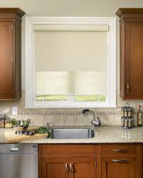 Roller Blinds For Kitchen Blinds In Kitchen Window Window Treatments Design Ideas