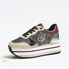 Chunky Designer Shoes Guess Designer Chunky Glitter Hinder Sneakers