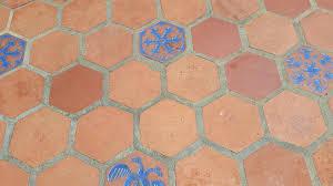 art hexagon terracotta tile floor tiles uk
