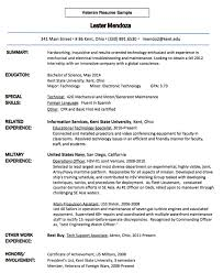 Veteran Resume Examples Extraordinary Resume Templates For Veterans Commily