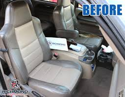 2002 2004 ford excursion ed bauer leather seat cover driver bottom 2 tone tan