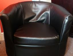 made faux leather slip cover ikea rp tullsta tub chair