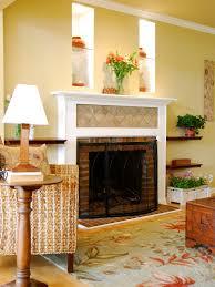 Floating Shelves Around Tv Stone Fireplace Among White Wooden Bookshelf And Cabinet Storage