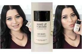 first impression review makeup forever mat velvet foundation demo