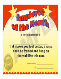 Printable Employee Of The Month Certificates Fillable Online Employee Of The Month Award Certificates