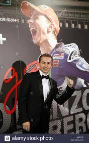 Il pilota della MotoGP Jorge Lorenzo e fidanzata Nuria Tomas durante la  premiere del documentario